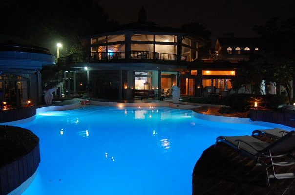 Mansion with pool at night  Broken Field Run: How Domain Investor/Developer Chad Folkening Went ...
